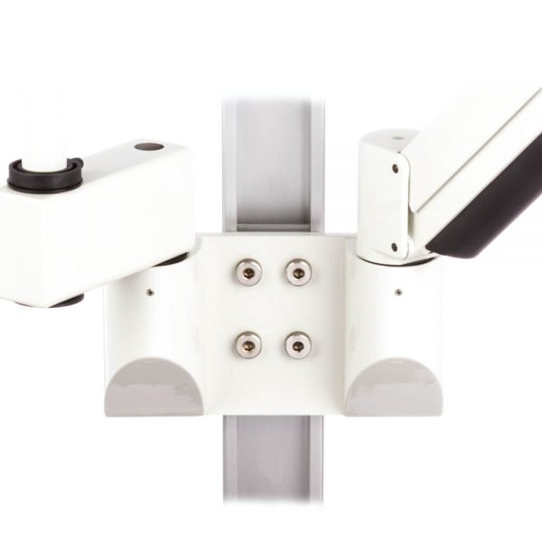 mtmar-118d1-dual-medical-arm-pole-mount-recessed-track-wall-extension-side-white