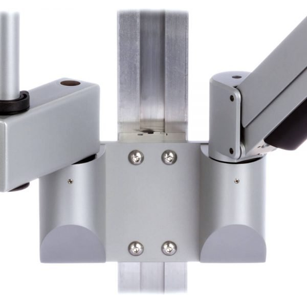 mtmd-118d1-dual-dovetail-mount-medical-arms-poles-wall-horizontal-extension-side-gray