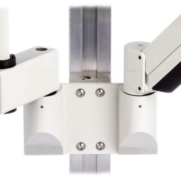 mtmd-118d1-dual-dovetail-mount-medical-arms-poles-wall-horizontal-extension-side-white