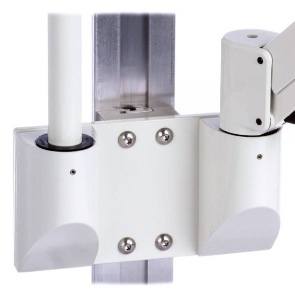 mtmd-118d1-dual-dovetail-mount-medical-arms-poles-wall-side-white