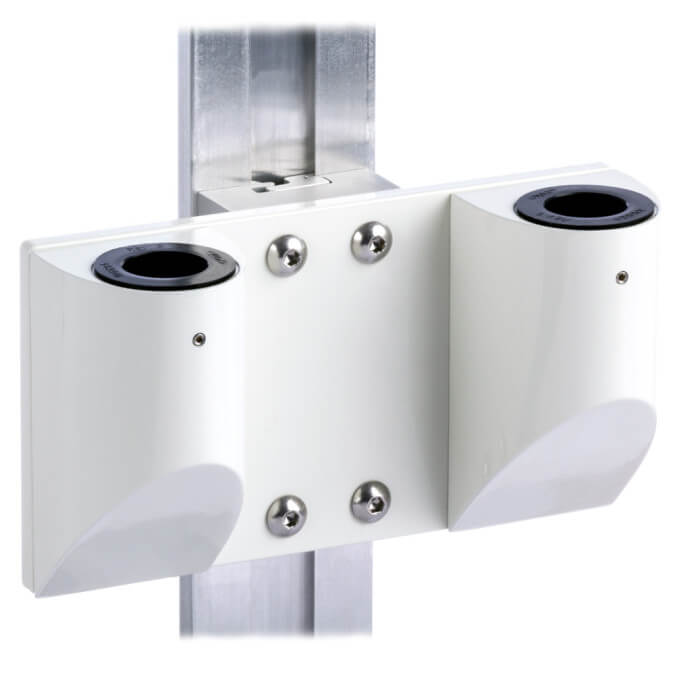mtmd-118d1-dual-dovetail-mount-medical-wall-side-white