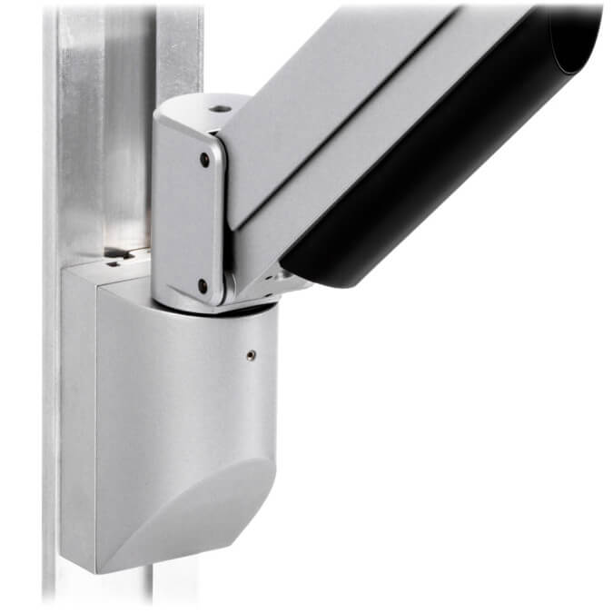 mtmd-118s1-single-medical-mount-dovetail-track-wall-side-with-arm-gray