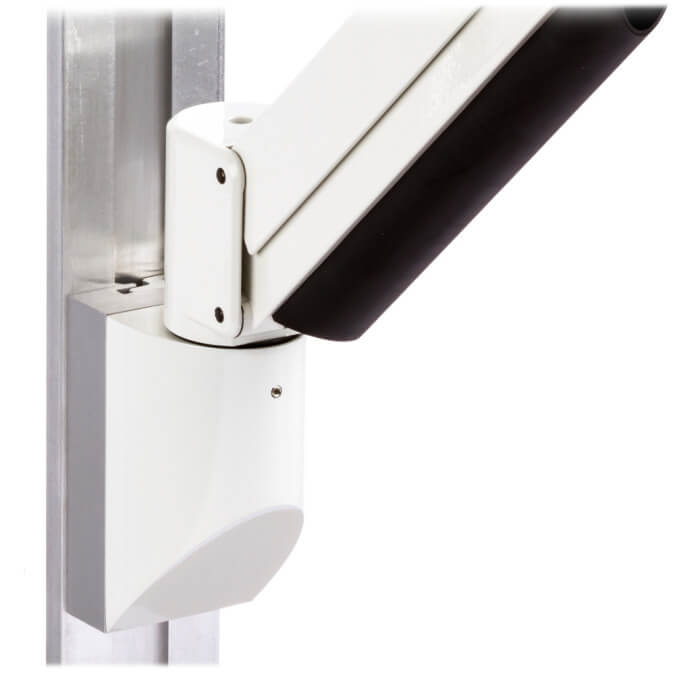 mtmd-118s1-single-medical-mount-dovetail-track-wall-side-with-arm-white