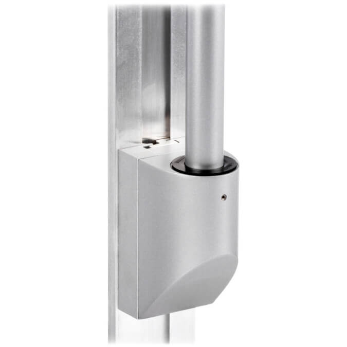 mtmd-118s1-single-medical-mount-dovetail-track-wall-side-with-pole-gray