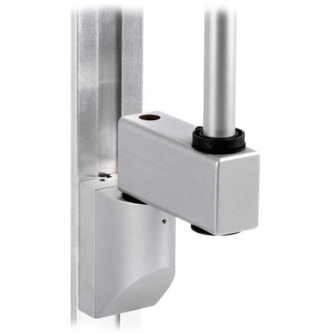 mtmd-118s1-single-medical-mount-dovetail-track-wall-side-with-pole-heavy-duty-extension-gray