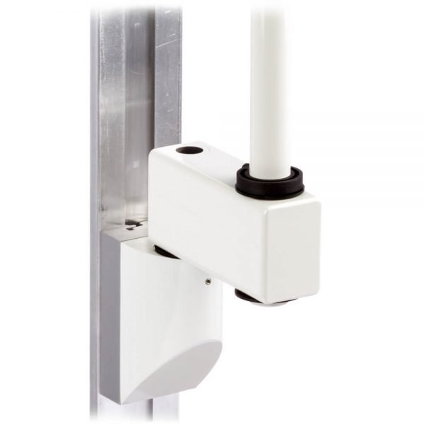 mtmd-118s1-single-medical-mount-dovetail-track-wall-side-with-pole-heavy-duty-extension-white