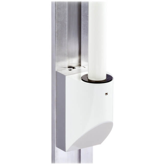 mtmd-118s1-single-medical-mount-dovetail-track-wall-side-with-pole-white
